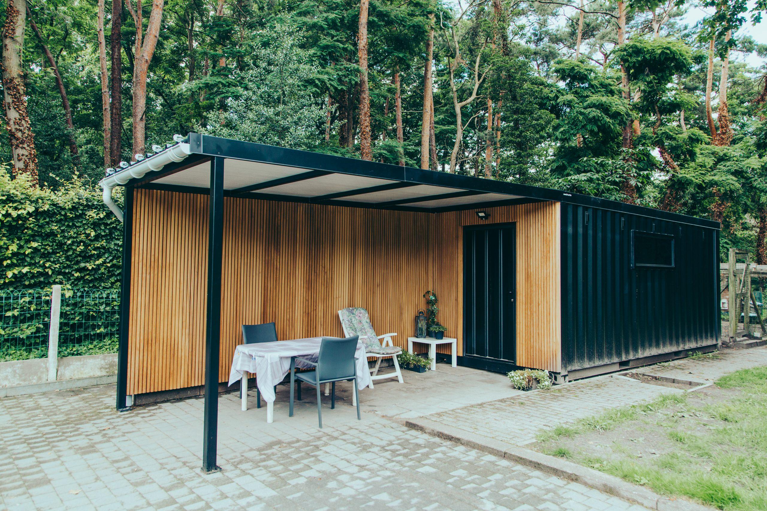 Liv-art - Carport met tuinhuis zeecontainer